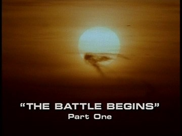 "Title Card for ""The Battle Begins, Part One""."