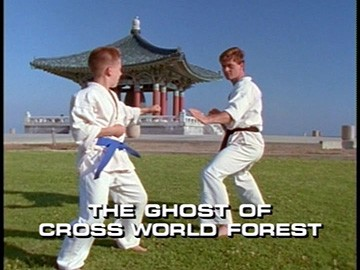 "Title Card for ""The Ghost of Cross World Forest""."