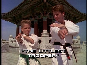 "Title Card for ""The Littlest Trooper""."