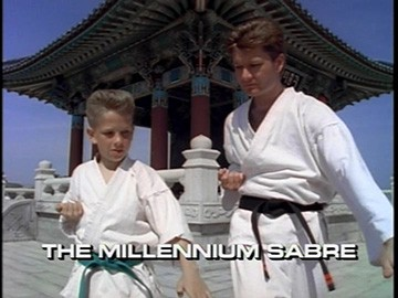 "Title Card for ""The Millennium Sabre""."