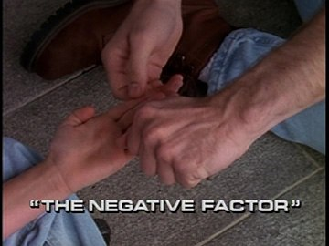 "Title Card for ""The Negative Factor""."