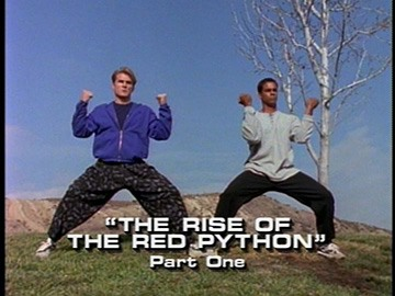 "Title Card for ""The Rise of the Red Python, Part One""."
