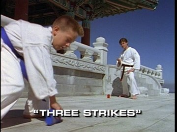 "Title Card for ""Three Strikes""."