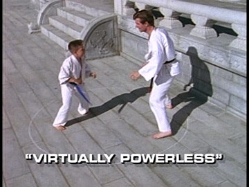 "Title Card for ""Virtually Powerless""."