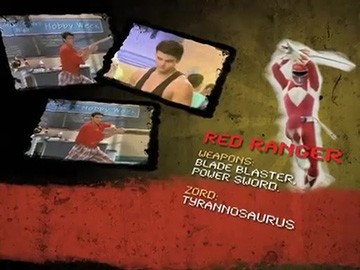 "A commercial bumper/eye-catch featuring a profile of the Red Ranger (from ""I, Eye Guy"")."