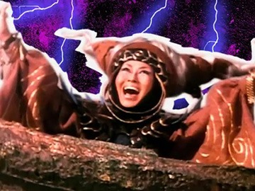 "Rita Repulsa emerging from her space dumpster (from ""Day of the Dumpster"")."