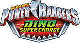 Power Rangers Dino Super Charge toy line logo.