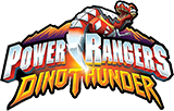 Power Rangers Dino Thunder toy line logo.