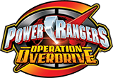 Power Rangers Operation Overdrive toy line logo.