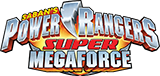 Power Rangers Super Megaforce toy line logo.