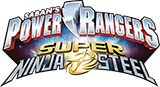 Power Rangers Super Ninja Steel toy line logo.