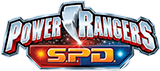 Power Rangers S.P.D. toy line logo.