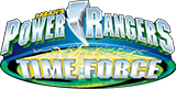 Power Rangers Time Force toy line logo.